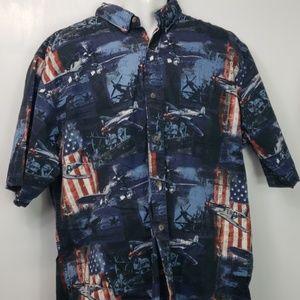 Mens RedHead shirt vintage war planes sz 2XL